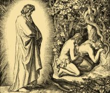 Adam-and-Eve-are-given-fire-by-God